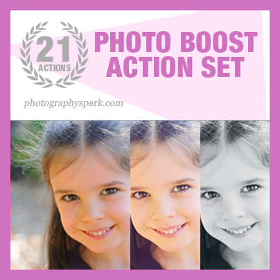Photo Boost Photoshop Action Set