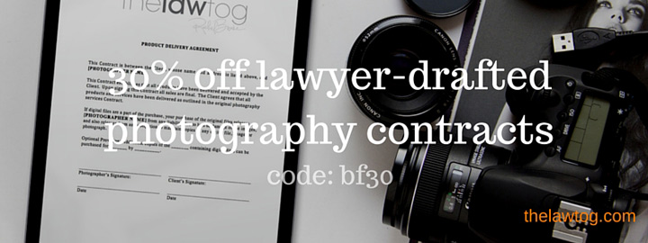 30% off photography contracts on black friday