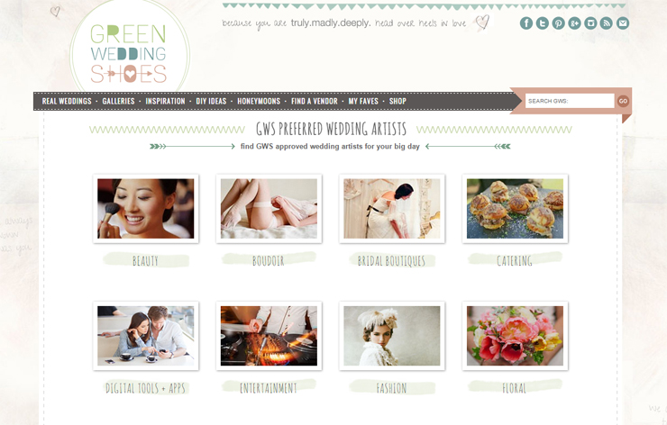 4 Green Wedding Shows Homepage Screenshot