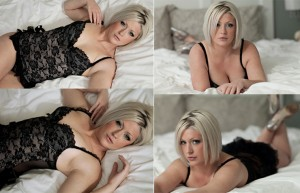 Boudoir posing angles on bed