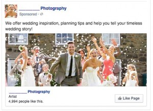 Click Like on a Wedding Ad