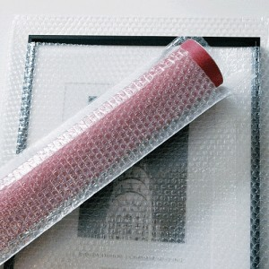 bubble wrap for a framed photo