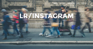LR/Instagram product home page