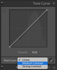 Using the Tone Curve to add contrast in Lightroom