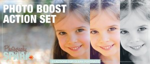 Photo Boost Action Set Logo - 21 Photoshop Actions