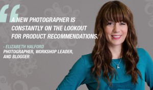 A new photograher is constantly on the lookout for new products