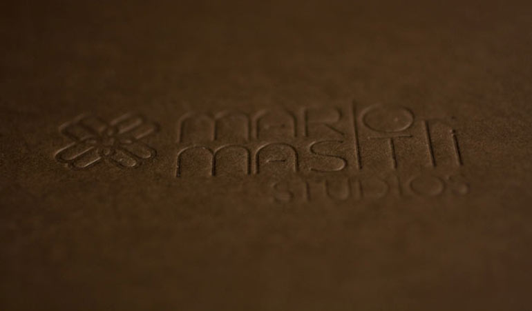 Logo-stamped folders for a photographer