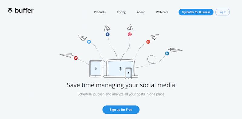 Buffer Web App Home Page