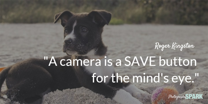 A camera is a SAVE button for the mind's eye.