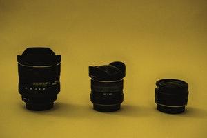 3 camera lenses