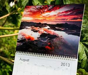 Example of a marketing calendar by a photographer