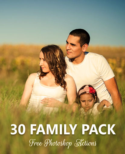 Photoshop actions of families