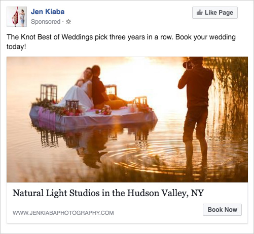 Example FB ad testing an image