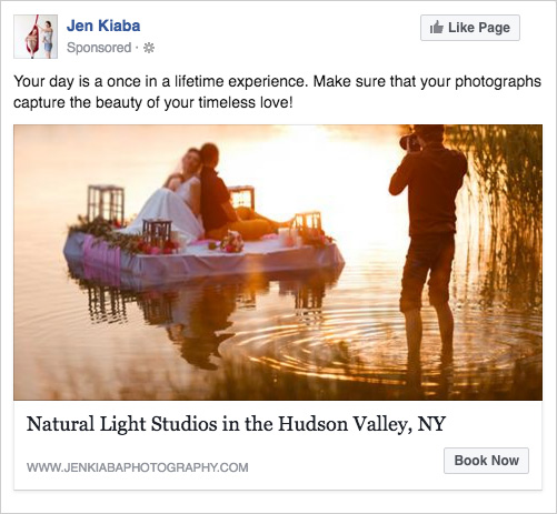 FB ad A/B test with alternate image