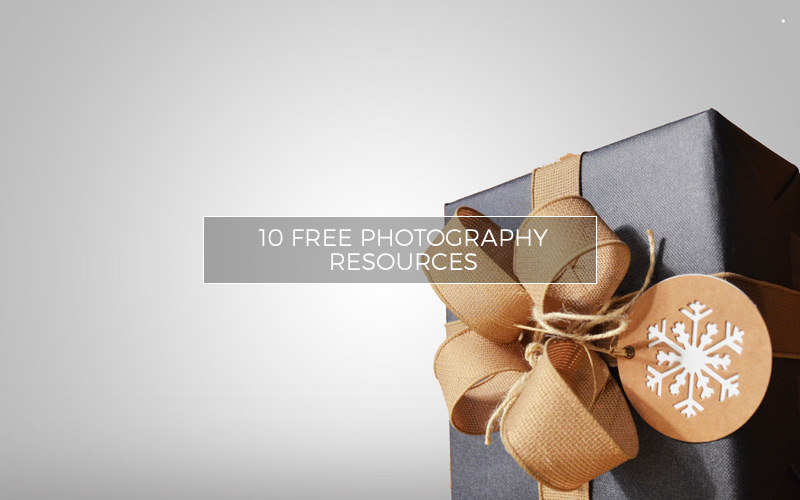 Gift package with free photo resources