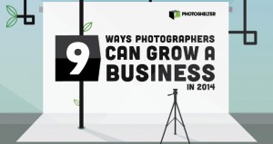 Infographic for how to grow a photography business