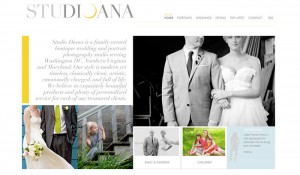 Photography website homepage brand