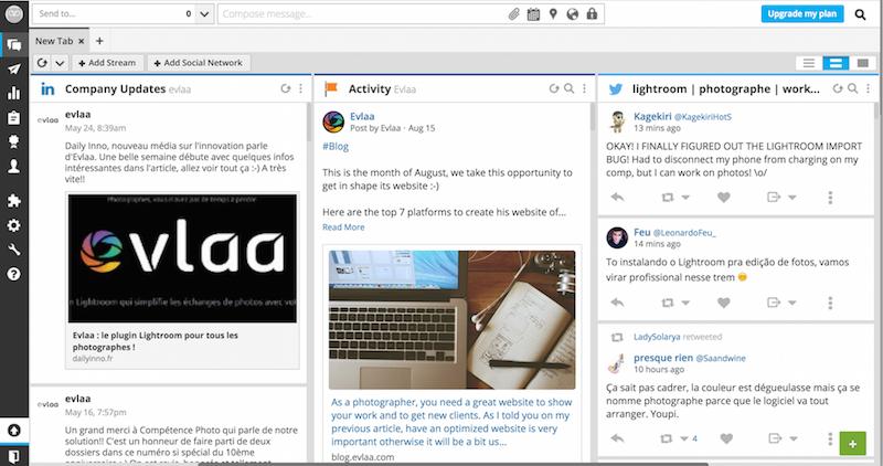 Screenshot of the Hootsuite Dashboard