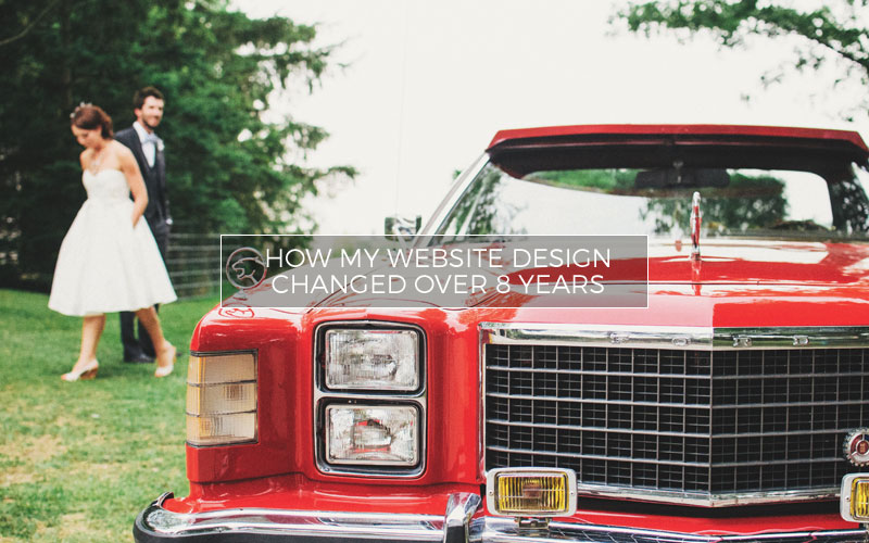 How My Website Design Changed Over 8 Years