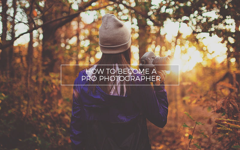 A professional photographer with her camera