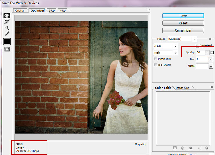 Image quality in Photoshop
