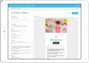 iPad Gallery for Email Creation
