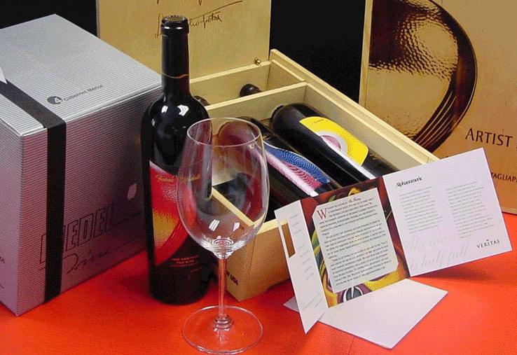 Kudzu marketing package of wine