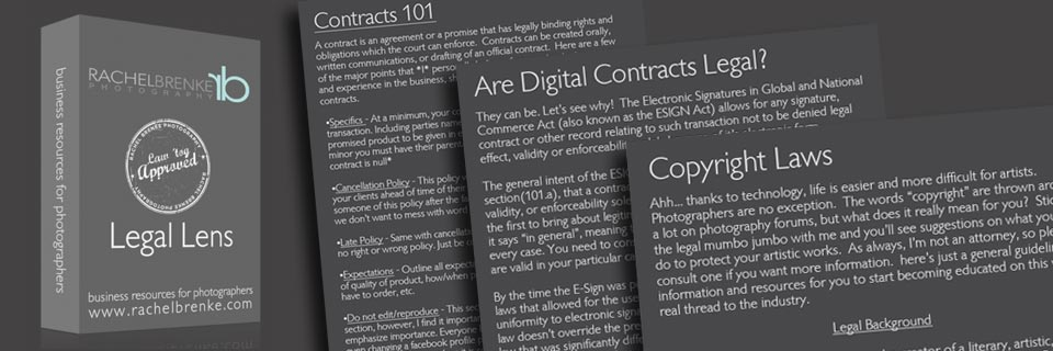 Legal Lens Free Ebook for Photographers