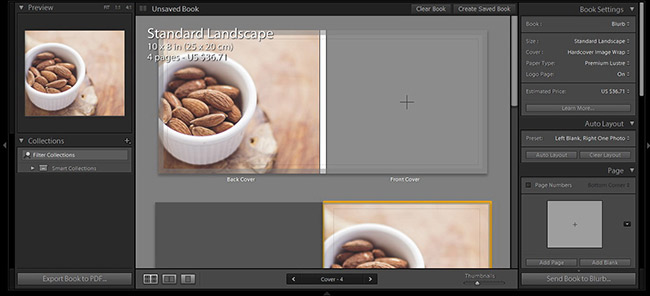 Book module in Lightroom