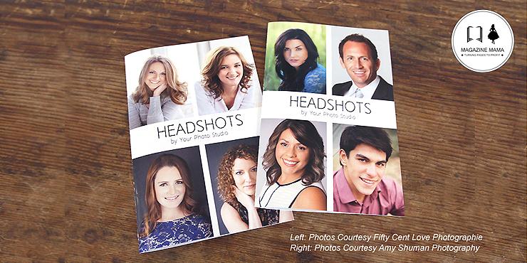 Headshot magazine idea for photography marketing