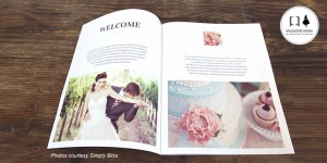 Wedding welcome guide magazine