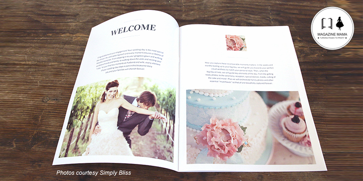Wedding welcome guide magazine