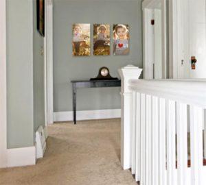 Kids photos in the hallway