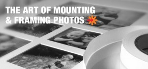 How to mount and frame a photo
