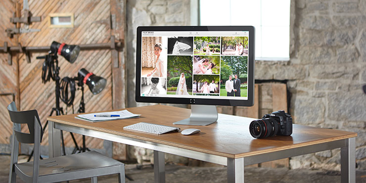 Computer screen showing online proofing