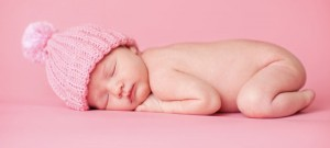 Newborn baby photo entered into a contest showing originality