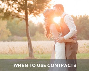 When to use photo contracts - married couple