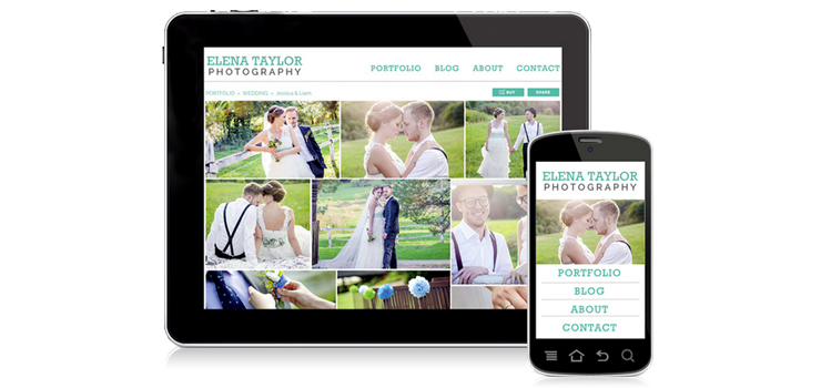 Mobile responsive design from Zenfolio