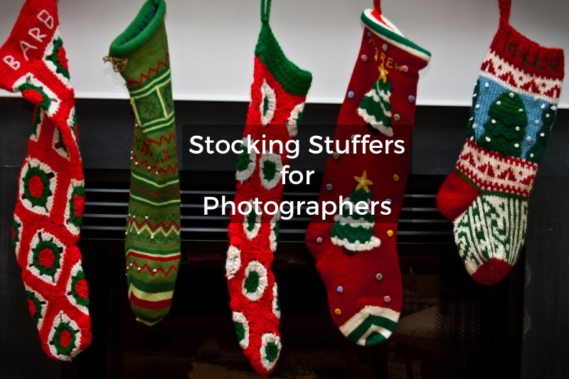 photographer's Christmas stocking gifts