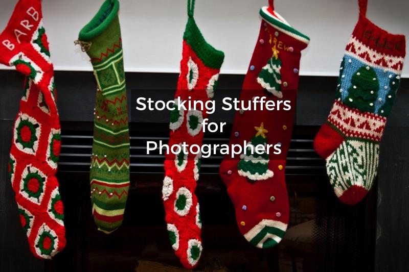 photographer's Christmas stocking gifts