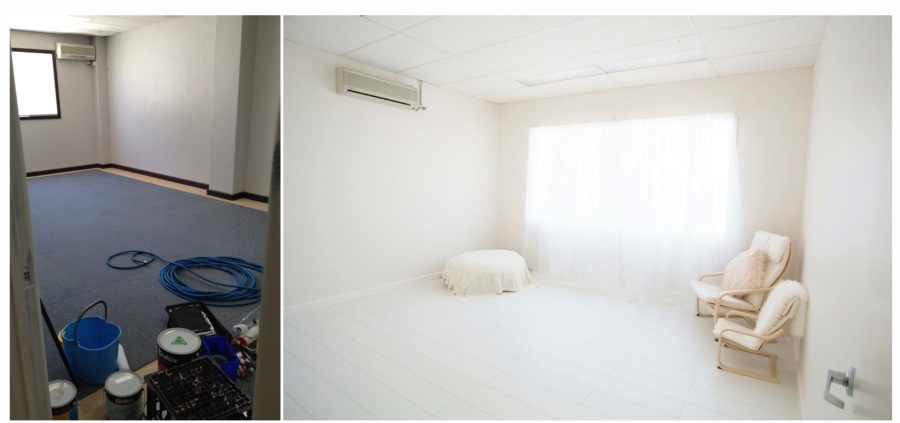 photography studio renovation before after