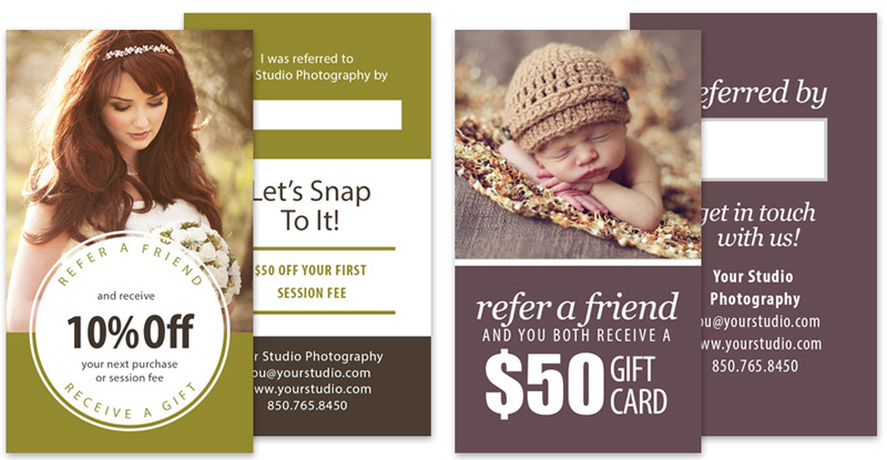 referral card templates for photographers