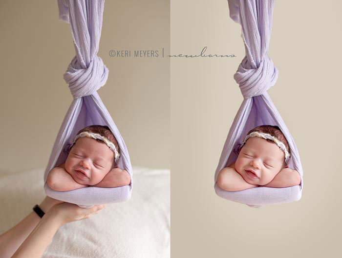 Stock's nest pose for newborn portraiture