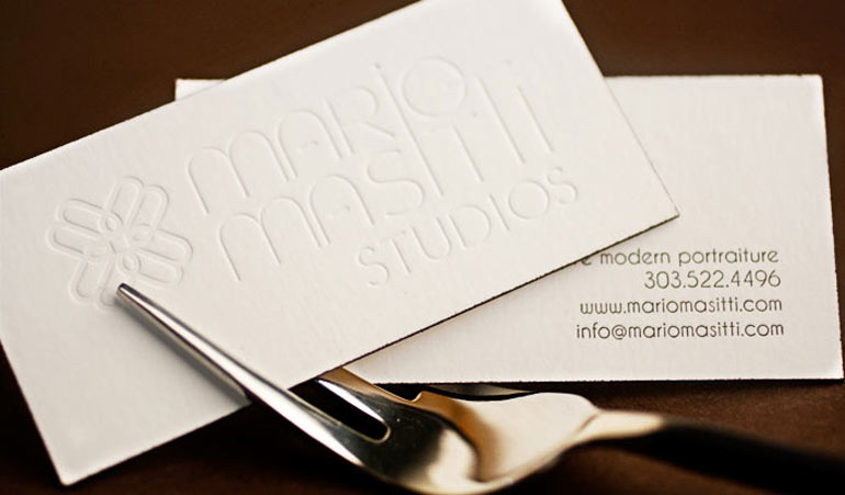 Business card designs for a photography studio