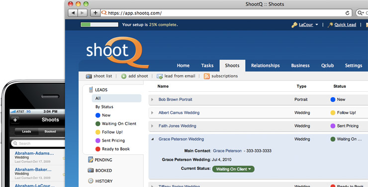 Photography Software Management System