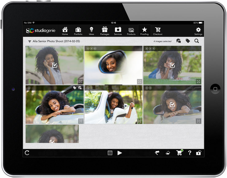 show your proofing gallery to the client in person