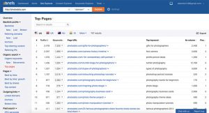 Keyword research tool from ahrefs