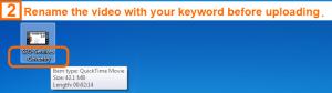 Video optimization step 2 - keyword placement