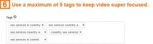 Video optimization step 6 - tags