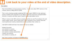 Video optimization step 7 - link back
